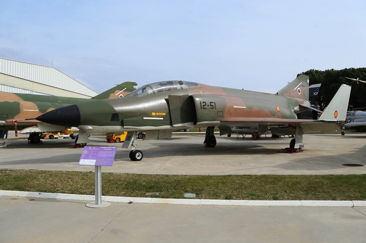 Reconnaissance aircraft RF-4C Phantom II, Aeronautics Museum in Madrid