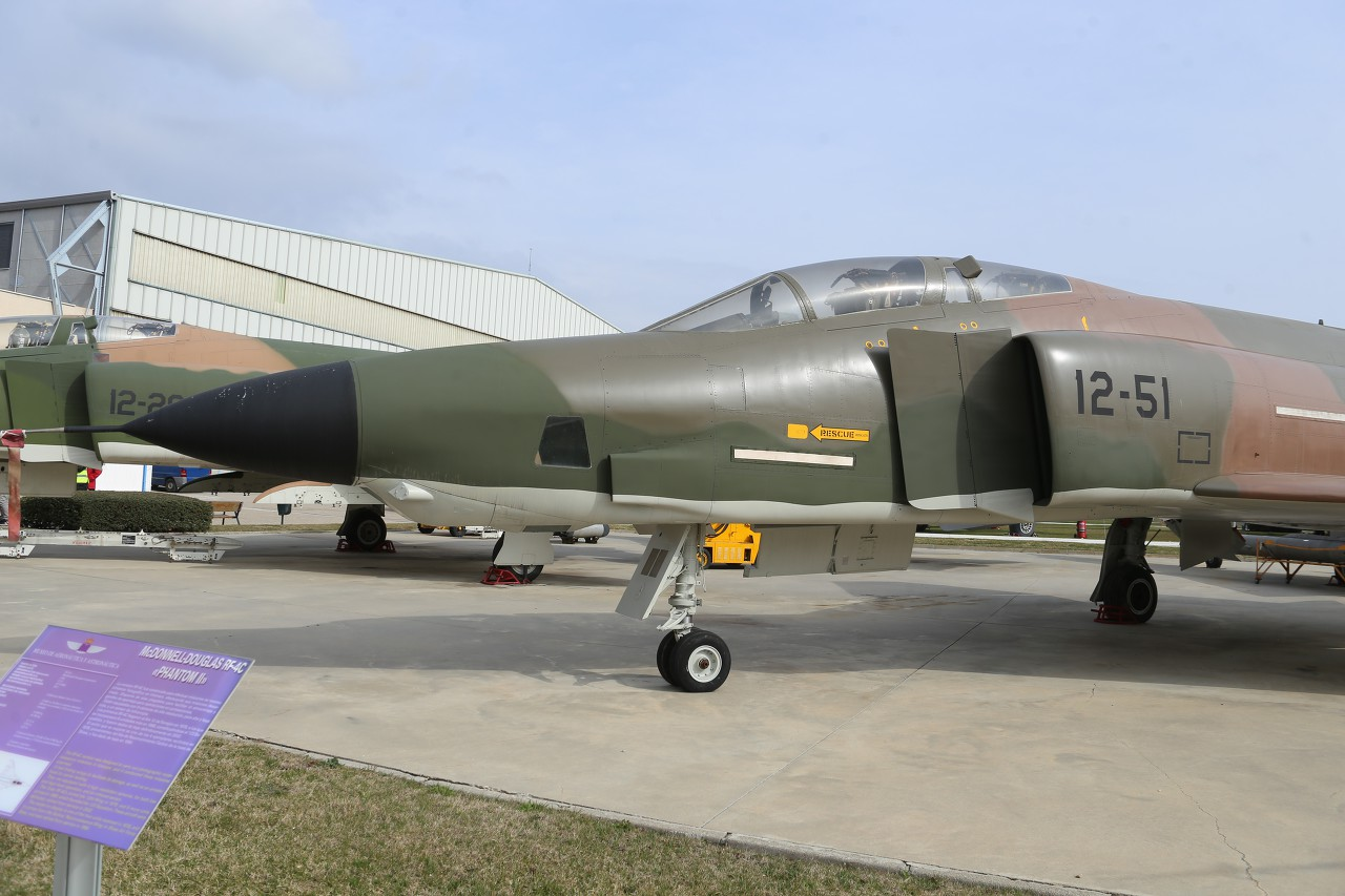 Reconnaissance aircraft RF-4C Phantom II, Aeronautics Museum in Madrid