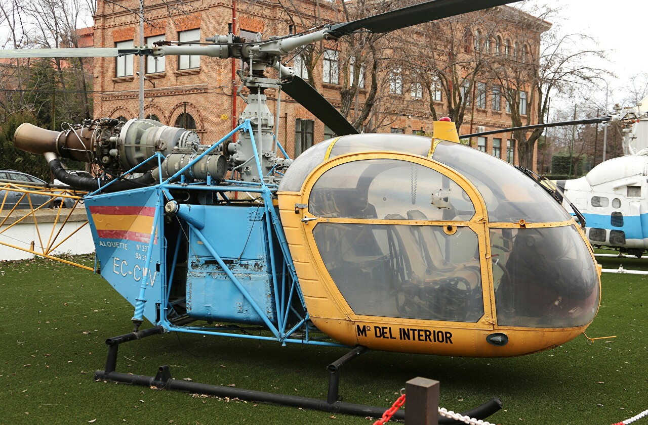 SA-318C Alouette II helicopter, Museo del Aire, Madrid