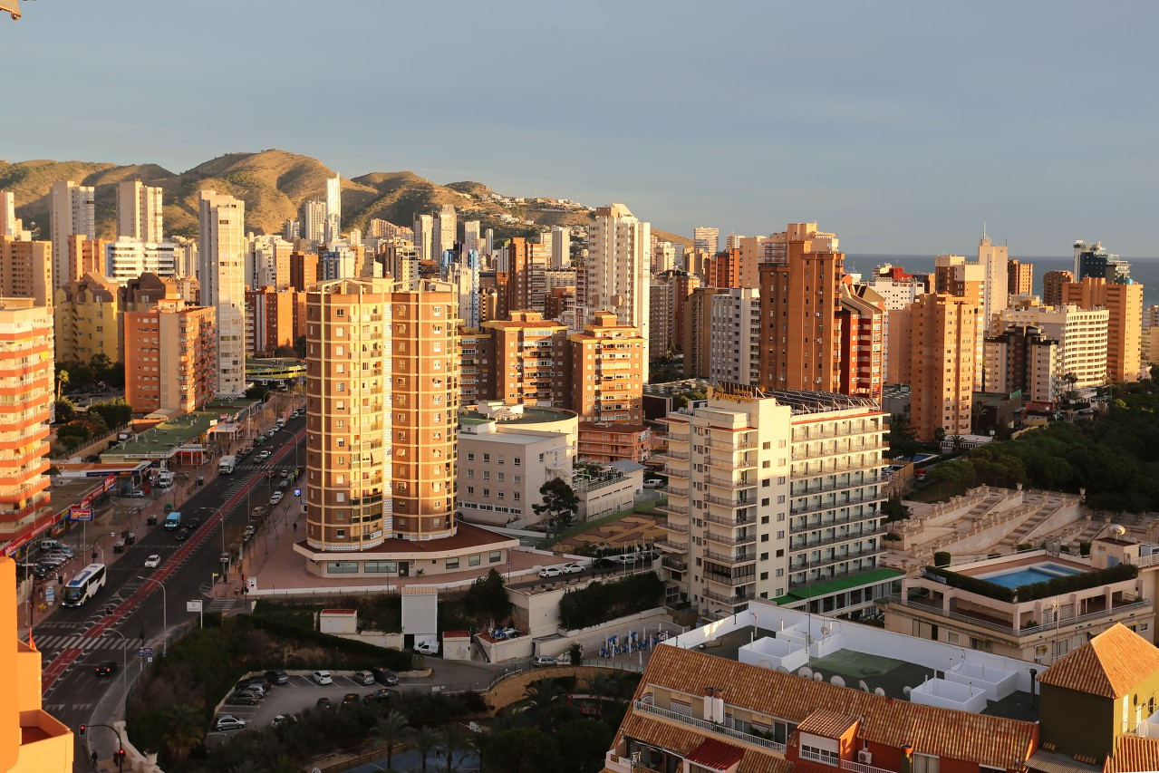 Benidorm view from Playmon Plaza building