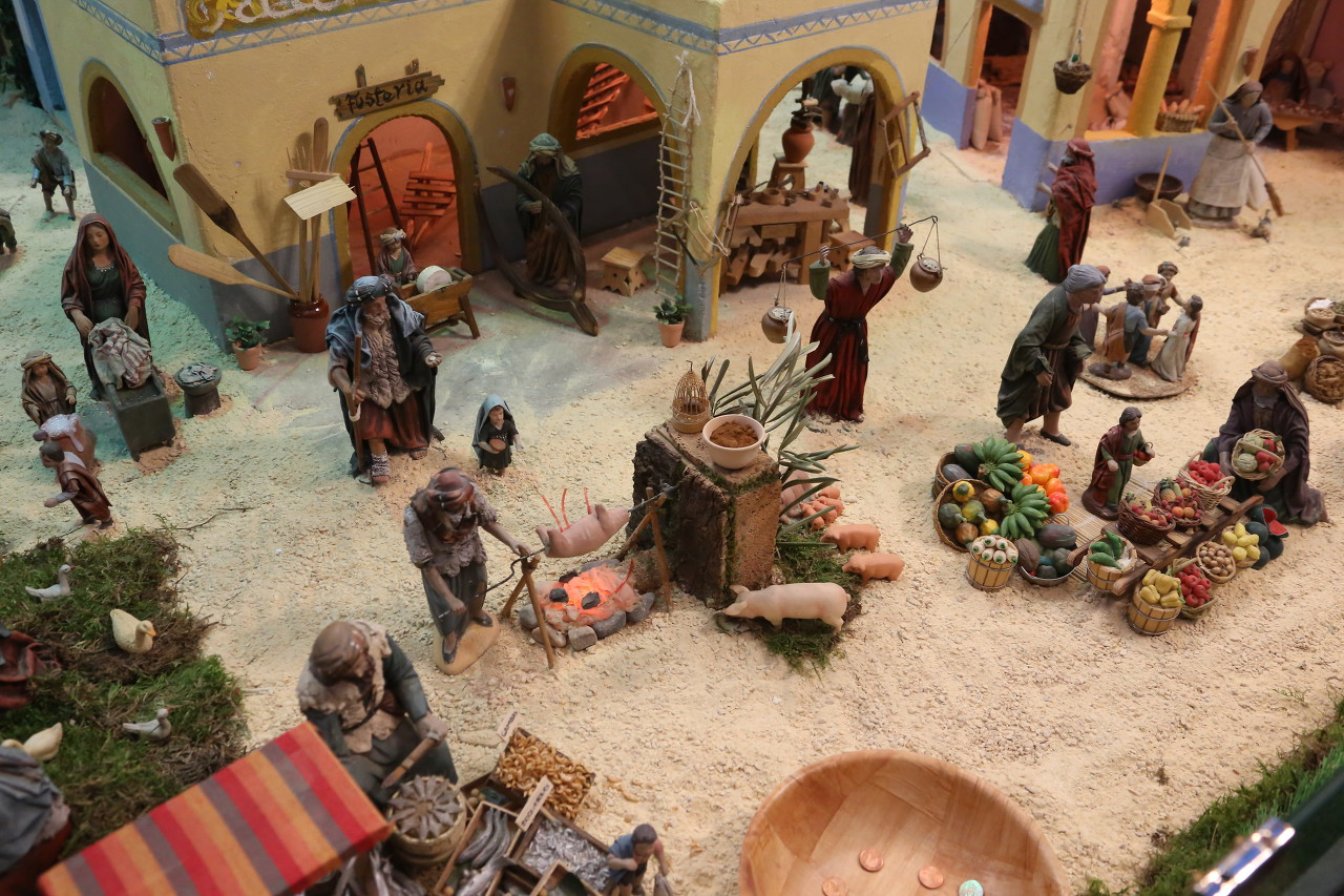 Christmas Nativity scene, Benidorm